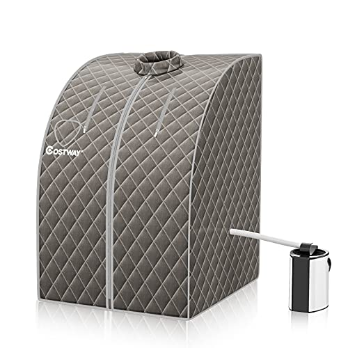 CASART Steam Sauna Box, 3L Personal Slimming Detox Therapy Sauna Cabin with...