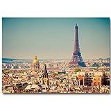 Puzzle 1000 piezas Pintura Art Deco de la Torre Eiffel del paisaje de París de la ciudad moderna puzzle 1000 piezas clementoni Rompecabezas educativo de juguete para aliviar e50x75cm(20x30inch)