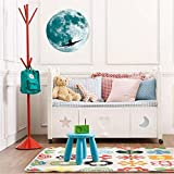 Bokeley 3D Moon Pattern Self-Adhesive DIY Removable Wall Sticker for Kids' Room Nursery Living Room Home Decoraions (B-30cm)