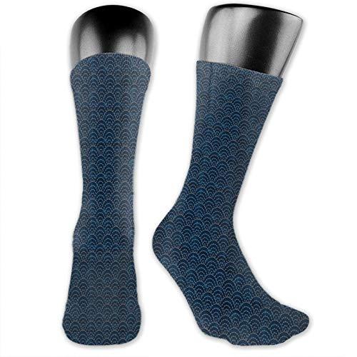 Sashiko Seikaiha Ocean Waves Calcetines de compresión graduados, para mujeres y hombres, la mejor compresión para correr, deportes y atletismo, mejora la circulación de la recuperación