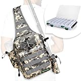 Best Fishing Backpacks - Rodeel Fishing Sling Backpack with Tackle Box, Outdoor Review