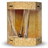 XXL Terrarium Holzterrarium Eckterrarium 180 x 100 x 100 mit Seitenbelüftung
