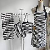 generio 4 unids/Set algodón Delantal Cocina Horno Mitones Mantel servilleta para el hogar Mujer Cocina