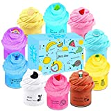 sloueasy 10 Pack Butter Slime Kit, with Mint Slime, Watermelon Slime, Coffee Slime, Lemon Slime, Rainbow Slime and Cake Slime Super Soft & Non-Sticky, Birthday Gifts for Girl and Boys
