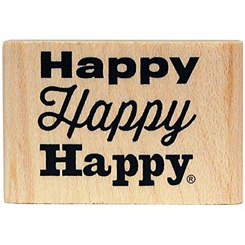 KellyCraft Innovations Dc-50063 Duck Commander Happy Happy Happy Wood Plat Tampon