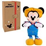 "Disney Junior E-I-Oh! Mickey Mouse, Interactive Plush Toy, Sings 'Old MacDonald' and Plays ""What Animal Sound is That?"" Game"