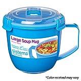 Sistema 21141 To Go Collection Soup Mug, Large, Varied, 1 count