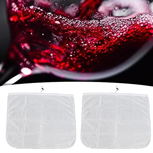 Bolsa, suministros para elaboración de vino, malla de 250 μm, cierre ajustable, bolsas reutilizables para elaboración de cerveza para vino de uva