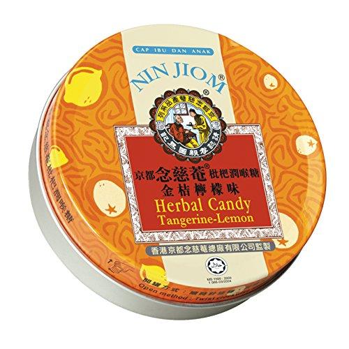 Nin Jiom Herbal Candy, Tangerine-Lemon, 2.1 Ounce