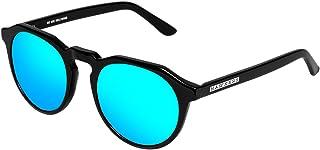Hawkers Men's Black Clear Blue Warwick X WX01 Oval Sunglasses, Blue, 12 mm
