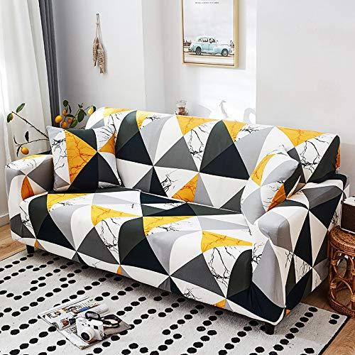 WXQY Fundas de sofá elásticas geométricas Fundas de sofá elásticas para Sala de Estar Protector de Muebles sofá Toalla Funda de sofá A21 2 plazas