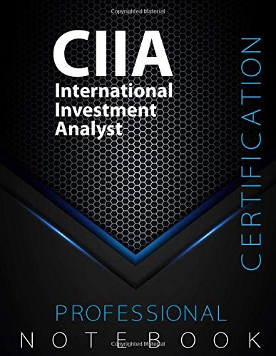 """CIIA Notebook, International Investment Analyst Certification Exam Preparation Notebook, 140 pages, CIIA examination study writing notebook, Dotted ... 8.5"""" x 11"""", Glossy cover pages, Black Hex"""