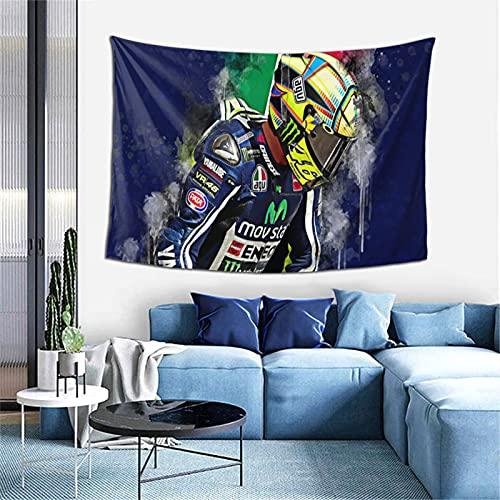 Valentino Rossi - Tapiz hippy, psicodélico para colgar en la pared, tapiz para decoración del hogar, para dormitorio, 40 x 60 pulgadas