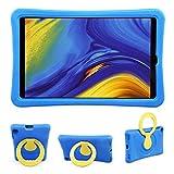 BelleStyle Niños Funda para Samsung Galaxy Tab A 10.1 2019 SM-T510 SM-T515, A Prueba de Choques Ligero Estuche Protector Giratorio Manija Caso Soporte para Galaxy Tab A 10.1 Pulgadas 2019 (Azul)