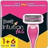 Wilkinson Sword Pack Ffp ECO box Intuition F.A.B. - Kit de maquinilla de Depilar de doble Sentido para mujer + 7 recambios de cuchillas, Depilación femenina en Ambos Sentidos