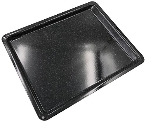 Kochstar K1030EE bakplaat, 41 x 32 x 2 cm, email, zwart, 41 x 32 x 2 cm