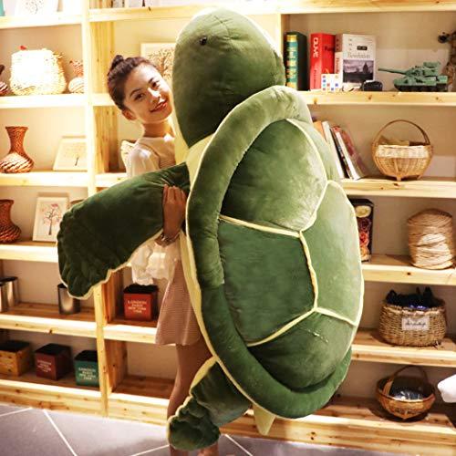 テレオンレイ ウミガメ 海亀ぬいぐるみ 特大カメ抱き枕 大きいクッション グリーン (140cm)