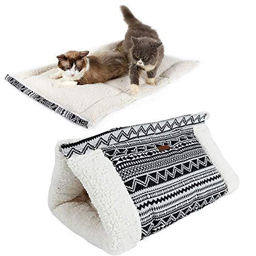 DealMux Camas para perros Cueva para gatos Sacos de dormir para mascotas...