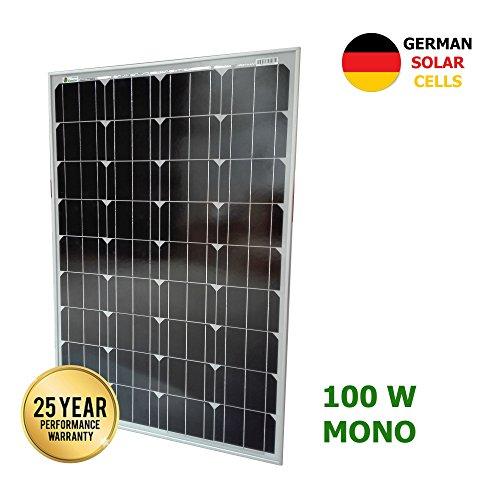 VIASOLAR Panel Solar monocristalino 100W 12V células alemanas