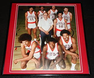1976 UNLV Runnin Rebels Basketball Team J Tarkanian Framed 12x12 Poster Photo