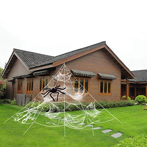 ZOYLINK Halloween Spinnennetz Spinngewebe Dekoration Set Halloween Party Gartendekoration (5*4.8 m))