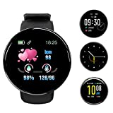 Smart Watch for Android Phones and iOS Phones Compatible iPhone Samsung, IP68 Swimming Waterproof Smartwatch Fitness Tracker Fitness Watch Heart Rate Monitor Smart Watches for Men Women Black