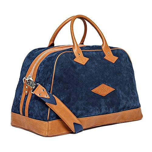 Bob Carlton equipaje de mano aprobado como maleta de cabina – Bolsa para avión, fabricación francesa, diseño de Côte d'Azur 55 x 27 x 27 cm – 45 L – La elegancia informal (oso azul marino