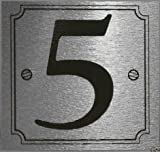 eCobbler Stick On Door Numbers in Silver colour - Number 5
