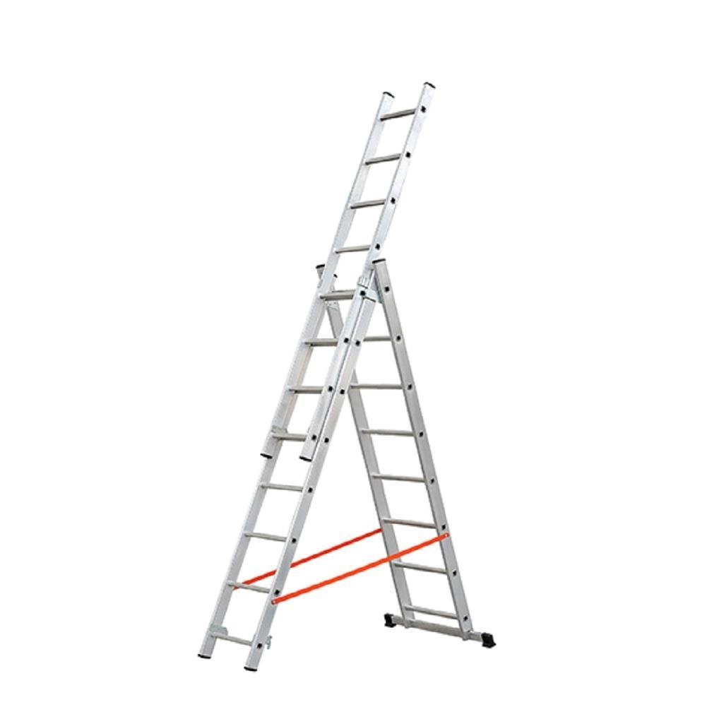 GIERRE AL445 - Escalera 3 tramos combinada de aluminio Modula 3x12: Amazon.es: Hogar