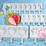 Various Shapes Of Silicone Ice Cream Mold Popsicle Mold Diy Homemade Dessert Freezer Juice Juice Ice Pop Maker Mold Set Of Four