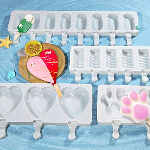 Various Shapes Of Silicone Ice Cream Mold Popsicle Mold Diy...