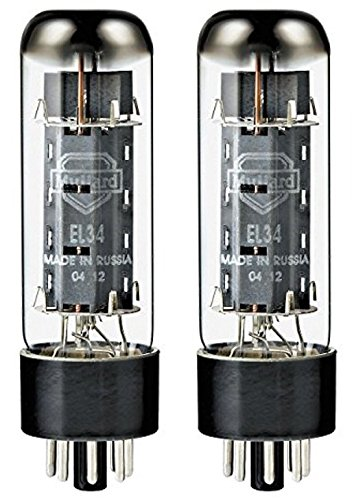 Mullard EL34 Power Vacuum Tube, Platinum Matched Pair