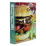 PRICARO Archivador de recetas (A5), diseño de hamburguesa