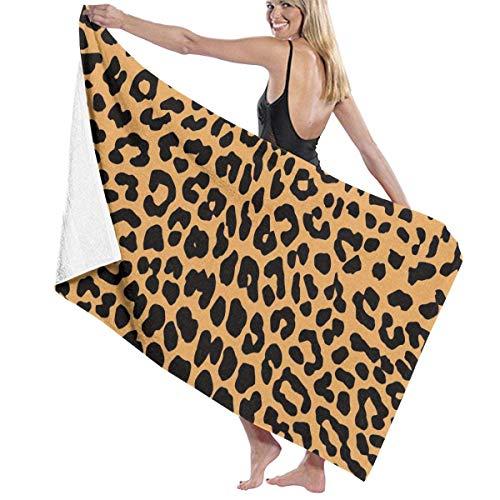 Sunny R Toalla de Baño Cool Animal Leopard Print de Quick Dry Toalla para Ducha Hotel SPA Deportes Viajes Yoga Senderismo 51.2×31.5 Pulgadas