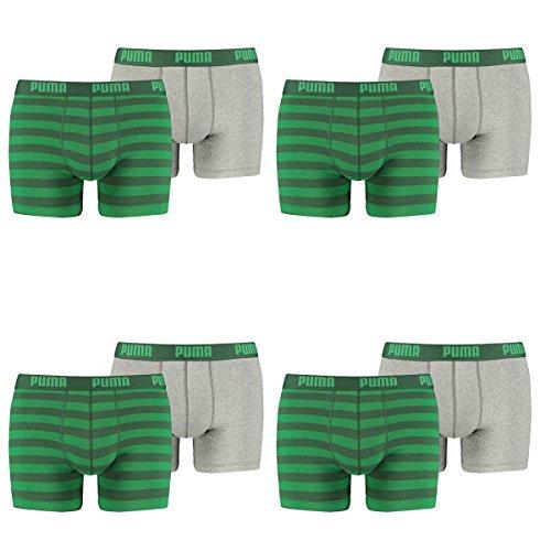 PUMA Herren Striped 1515 Boxer Boxershort Unterhose 8er Pack green 327 - S
