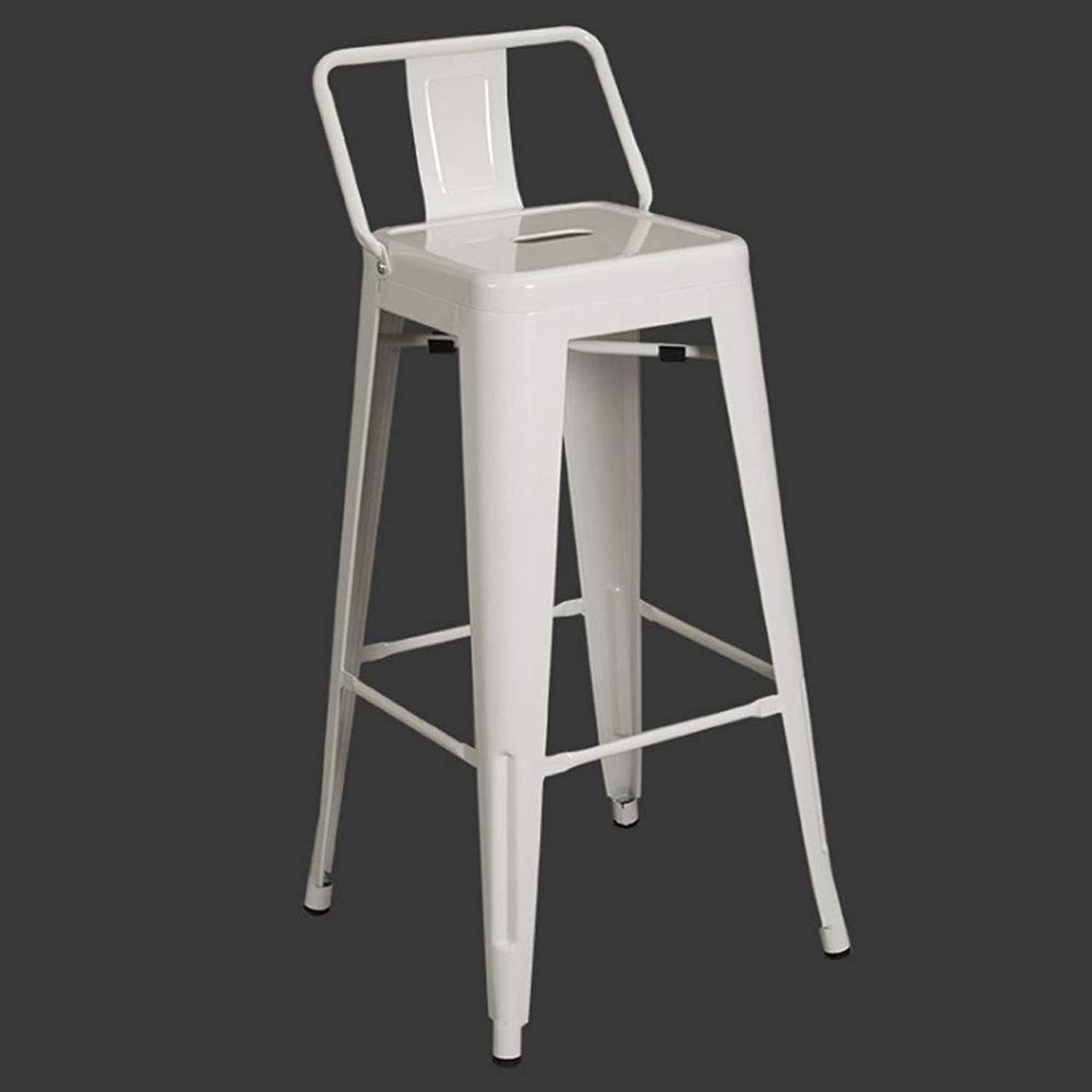 Bar stools Breakfast Bar Stool Kitchen Bistro Cafe Vintage - No Assembly Required(White) Height Chair