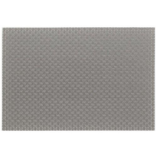 Kela 11374 Plato Set de table PVC/Polyester Gris Clair 45 x 30 x 1 cm