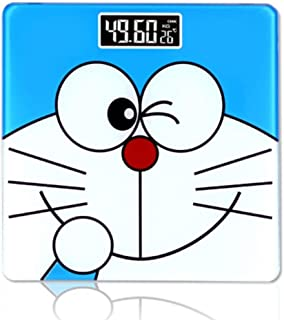 YQSHYP Weighing Scale,Compact Electronic Bathroom Scales - Toughened Glass, Easy To Read Digital Display, Instant Precise Reading With Step-On Feature, Blue