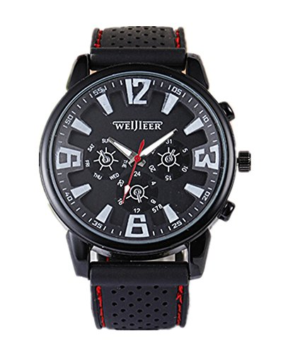 SAMGU Casual Quarzo uomini militare orologi sportivi da polso watch colore Nero