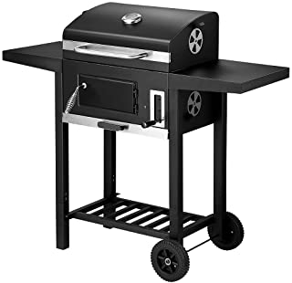 Charcoal BBQ Grill Trolley Portable Aluminium Cooking Grill Outdoor Barbecue Set for Picnic Patio Backyard Camping