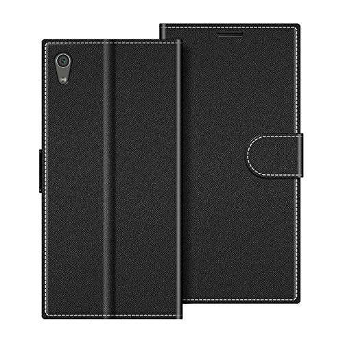 COODIO Funda Sony Xperia XA1 Ultra con Tapa, Funda Movil Sony Xperia XA1 Ultra, Funda Libro Sony Xperia XA1 Ultra Carcasa Magnético Funda para Sony Xperia XA1 Ultra, Negro