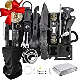 Gifts for Men - Survival Gear, KEEGOP 26 in 1 Tactical Tools, Survival Kit for Camping, Road Trip, Hurricane, Earthquake Gear Equipment, Bday Gifts for Guys Dad Husband Sons Women