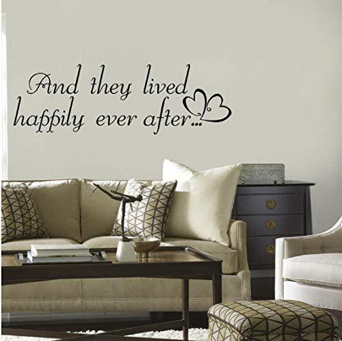 GVFTG en jij leven gelukkig tot aan het eind van de dag. Qutoes Pvc muursticker 69 x 21 cm