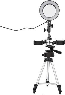 Selfie Light Ring Lights, ZXIANGK LED Circle Light con trípode de pie para Maquillaje, transmisión en Vivo y Video de Youtube, Mini lámpara Regulable con 3 Modos de luz