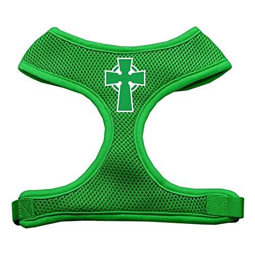 Mirage Pet Products Celtic Cross Screen Print Soft Mesh Dog Harnesses, Medium, Emerald Green