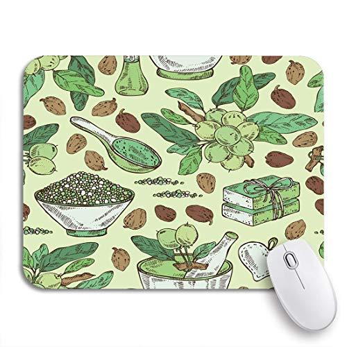 Gaming mouse pad branch shea nuss ätherisches öl seife und badesalz rutschfeste gummi backing mousepad für notebooks computer maus matten