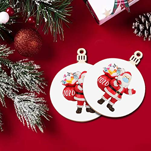 BOQIAN Colgantes de árbol de Navidad,Adornos de madera para decoración de etiquetas,Adornos de árbol de Navidad de madera para colgar etiquetas colgantes colgantes DIY decoración