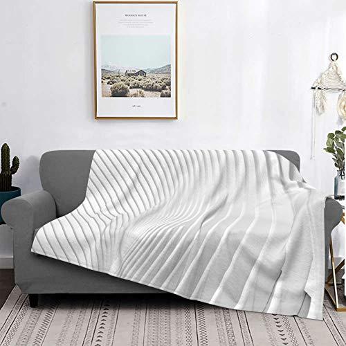 Manta unisex, manta de bebé, cálida y ligera, de felpa, manta de forro polar para sofá cama, manta con patrón de estrella (textil blanco)