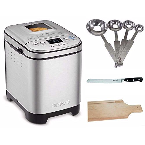 Cuisinart CBK-110 Bread Maker Bundle with Measuring Spoon Set, Bread Board and Bread Knife