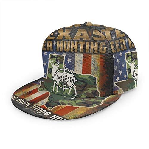 Baseball Cap Texas Hirsch Jagd Amerikanische Flagge Camouflage Baseball Caps Unisex Snapback Flat Bill Hip Hop Hüte
